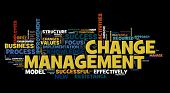Change management wordcloud